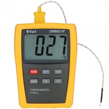 Vici DM6801A+ Mini LCD Digital Thermometer Temperature Meter Tester with K-type Thermocouple