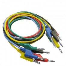 P1036 5Pcs 1M 4mm Banana to Banana Plug Test Cable Lead for Multimeter 5 Colors