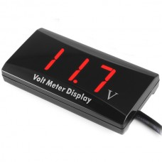 DC 8-16V Red LED Panel Digital Display Voltmeter Voltage Meter for 12V Cars Vehicles