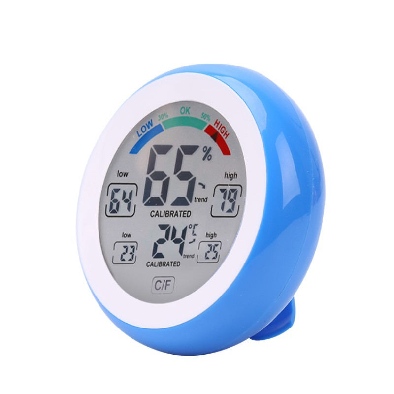 Multifunctional Digital Thermometer Hygrometer Temperature Humidity Meter Touch Screen Multicolor Min Value Trend Display /