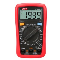 UNI-T UT33C+ Digital Multimeter Voltmeter Ammeter Resistance Meter Temperature Tester  / Palm Size