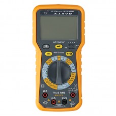 AT80B 6000 Counts True RMS Automotinve Multimeter AC DC Voltage Current Resistance Capacitance Frequency Dwell Angle Rotational Speed Diode hFE Tester