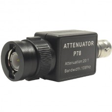 P78 20:1 Signal Attenuator 10MHz Bandwidth Oscilloscope Accessories BNC Adapter HT201 Upgrade Version