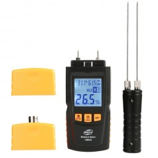 GM620 Wood Moisture Meter Humidity Tester Timber Damp Detector Two Long Probe