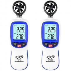 Wintact WT82 WT82B Bluetooth Digital Anemometer Mini Wind Speed Meter Wind Meter Temperature Measurement /