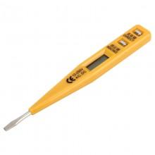 Portable AC DC Voltage Test Pencil Circuit Detector Volt Tester 12-250V Detection (Yellow)