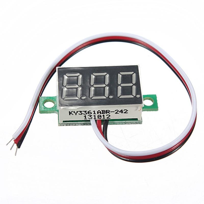 DANIU MINI DC 0-32V 3-Digital LED Display Volt Meterr