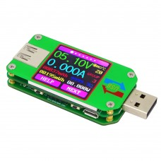 RUIDENG UM24/UM24C USB 2.0 Color LCD Display Tester Voltage Current Meter Voltmeter Amperimetro Battery Charge Measure Cable Resistance