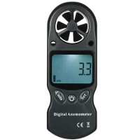 3 in 1 Handheld Digital Anemometer Wind Speed Meter Thermometer Hyprometer Temparature & Humidity Tester with LCD Backlight