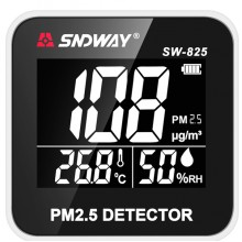 SNDWAY SW-825 Digital Air Quality Monitor Laser PM2.5 Detector Gas Temperature Humidity Monitor Analyzer Diagnostic Health Care Tool
