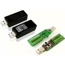 USB Tester Digital DC Current Voltage Detector Power Bank Charger Indicator + USB Load