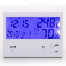 TH902 LCD Digital Thermometer Hygrometer Alarm Clock Calendar Home Temperature Humidity Meter